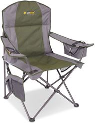 Oztrail Cooler Arm Camp Chair Green