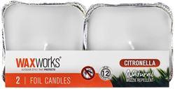 Waxworks 2 Pk Citronella Foil Candle