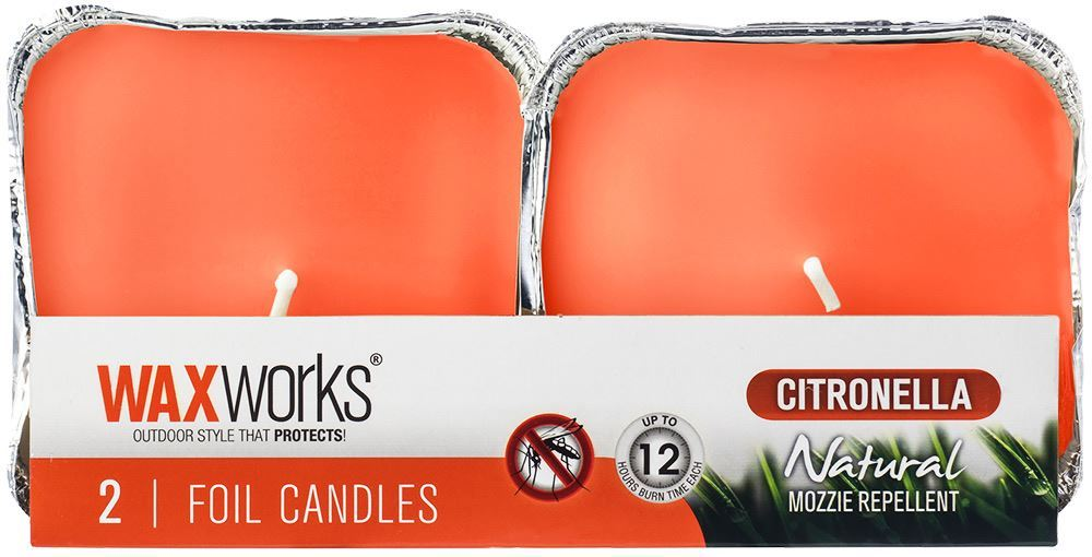 Picture of Waxworks 2 Pk Citronella Foil Candle