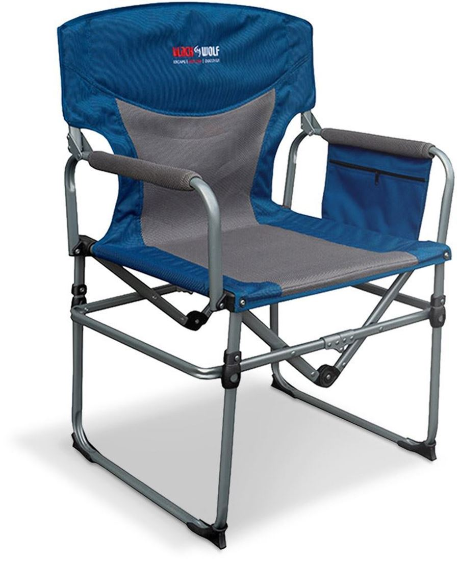 Black Wolf Compact Directors Chair Blue NST