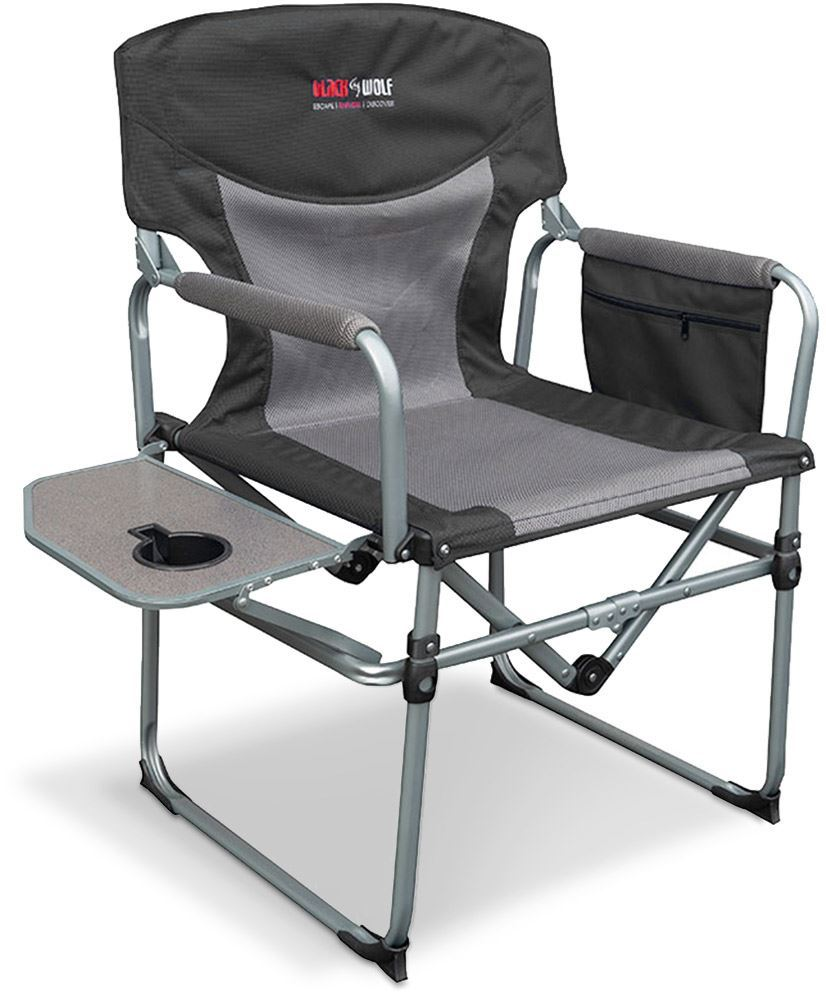 Black Wolf Compact Directors Chair Charcoal