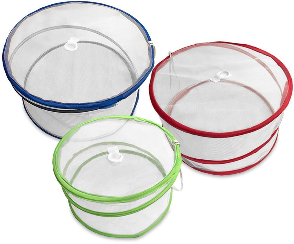 Collapsible Food Covers 3Pk - Popped up
