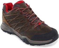TNF Hedgehog Hike II GTX Men's Shoe Bone Brown Rage Red