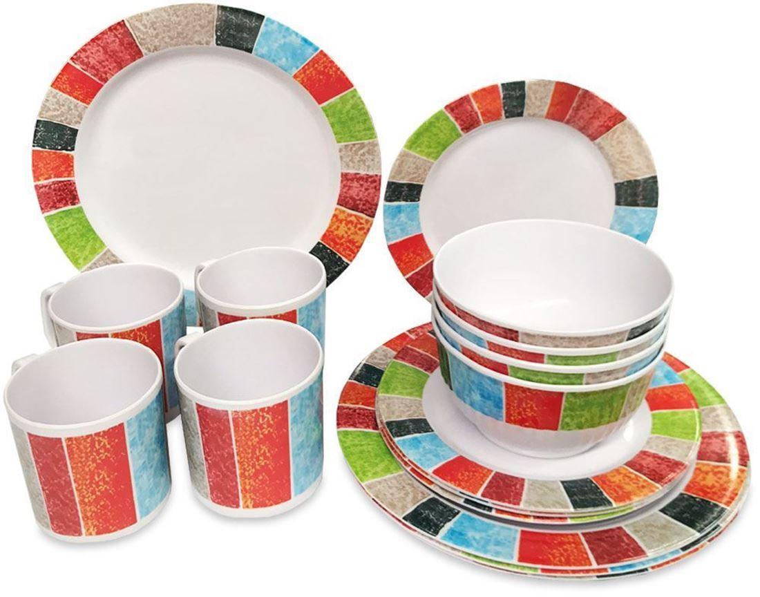 Royal Kitchenware 16pc Melamine Dinner Set Sunrise