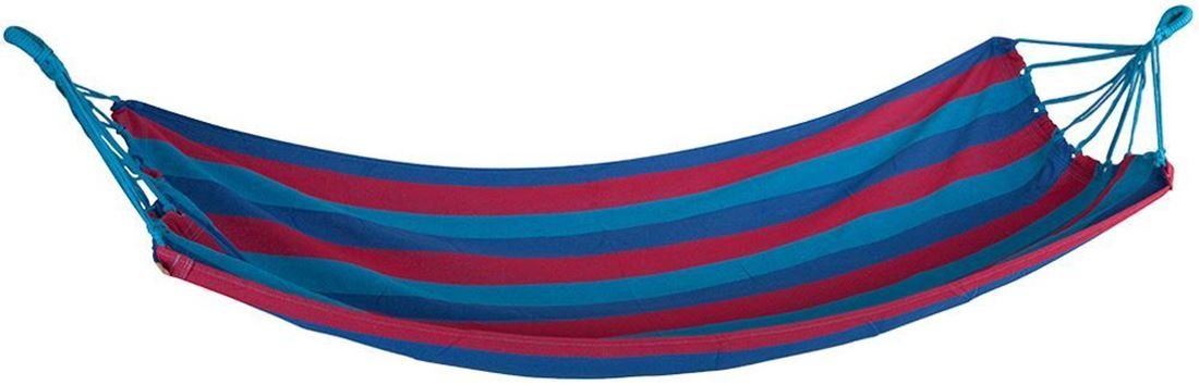 Oztrail Anywhere Hammock Single Blue Red Stripe