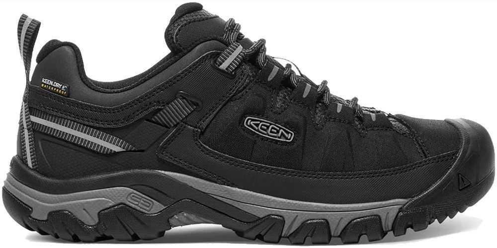 Keen Targhee EXP WP Men's Shoe Black/ Steel Grey - Side