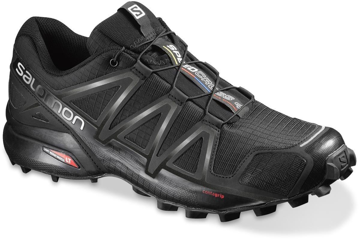 Salomon Speedcross 4 Wide Men's Shoe Blk Blk Blk Metallic