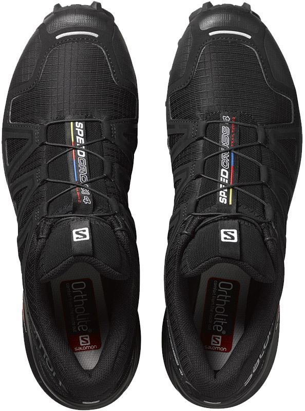 Salomon Speedcross 4 Wide Men's Shoe Blk Blk Blk Metallic Top View