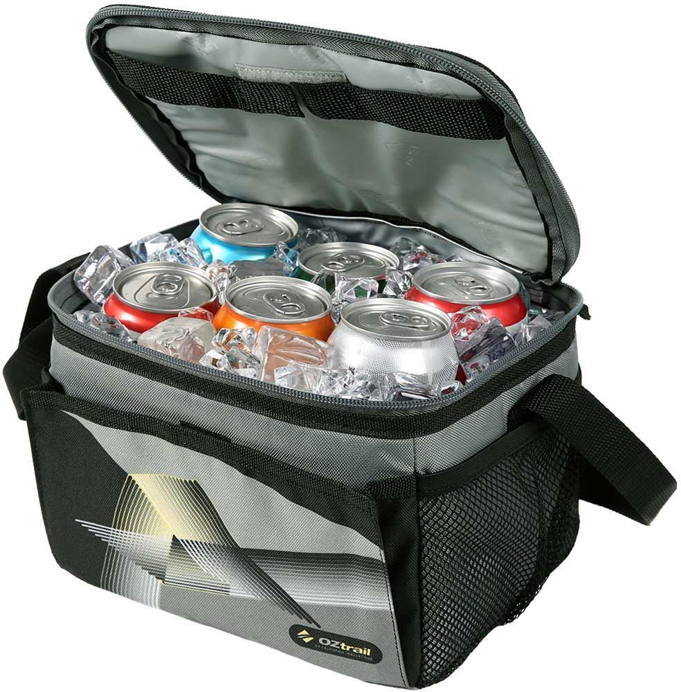 OZtrail 6 Can Collapsible Cooler Internal - Packed with 6 Cans and Ice