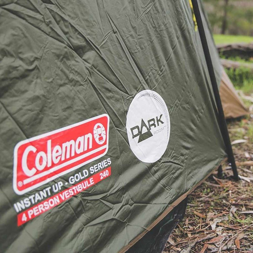 Coleman Instant Up Darkroom 4PV Tent Side View Vestibule