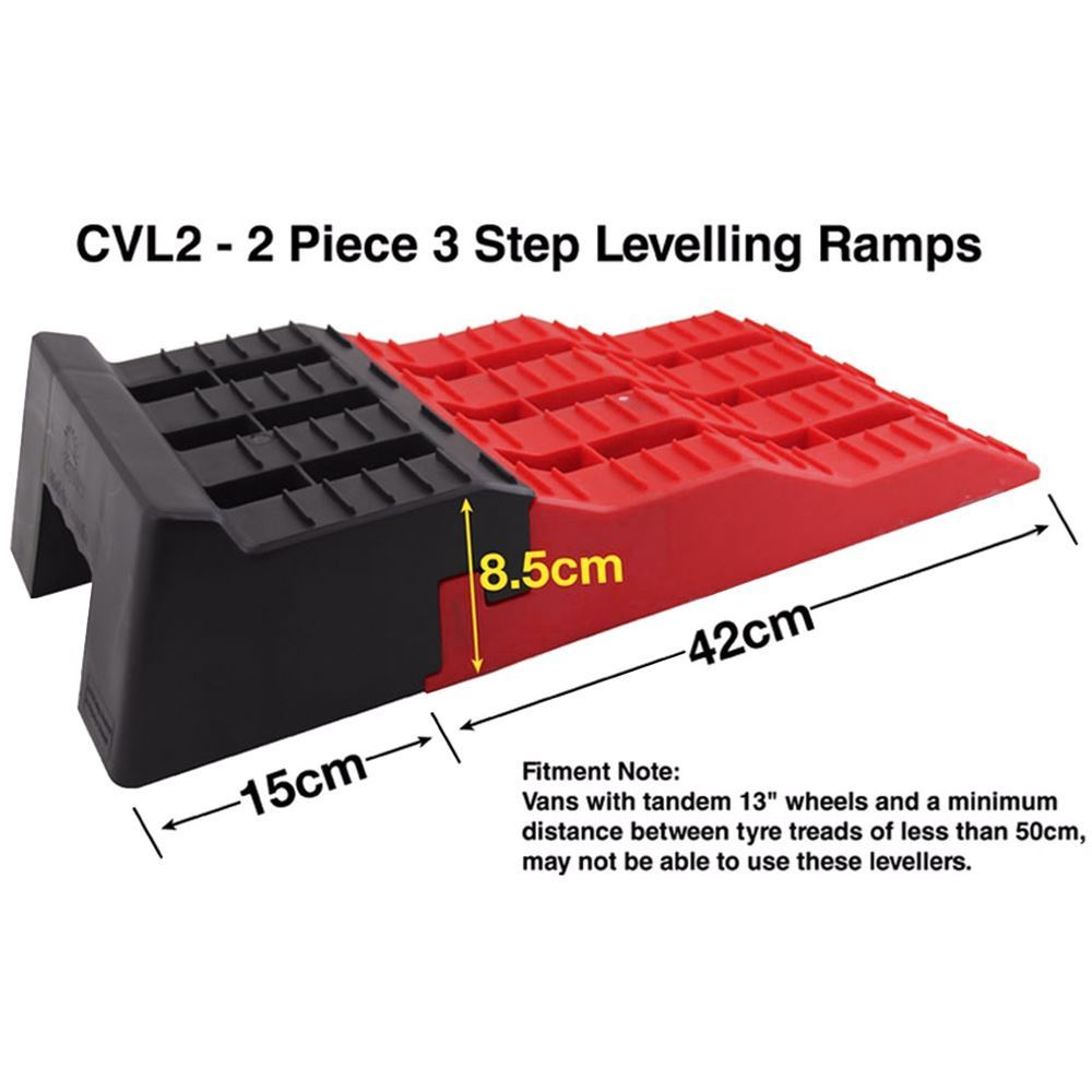 Explore 3 Step Levelling Ramps
