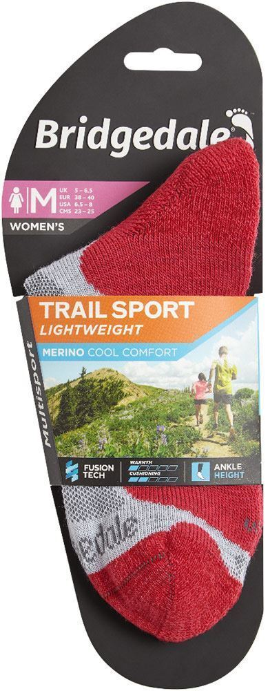 Bridgedale Trail Sport Lightweight Wmn's Ankle Sock Grey Raspberry