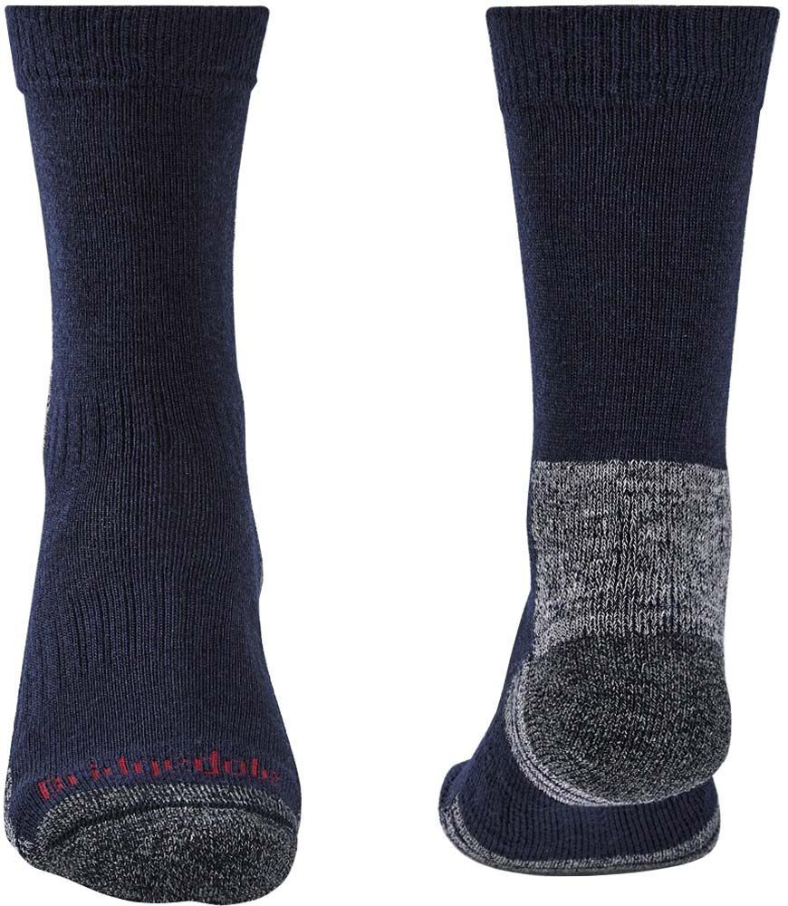 Bridgedale Hike Lightweight Men's Boot Sock Navy Grey Front and Back