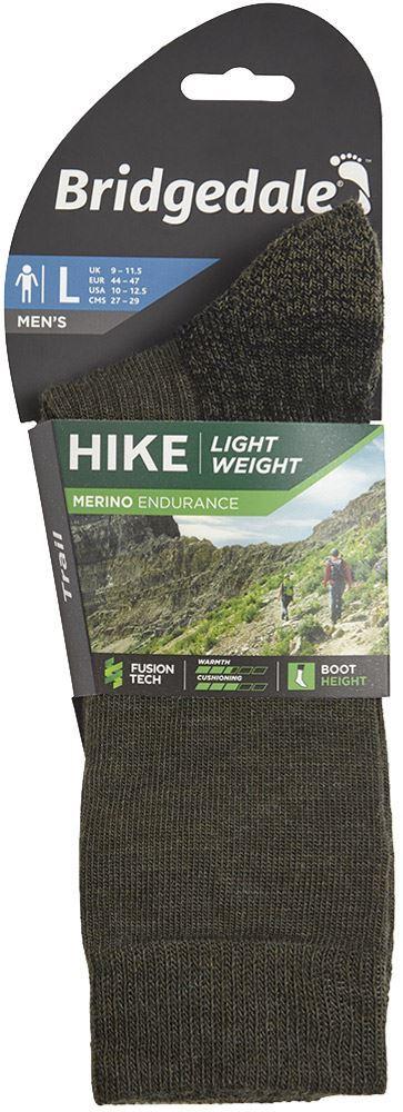 Bridgedale Hike Lightweight Men's Boot Sock Dark Green - Packaging