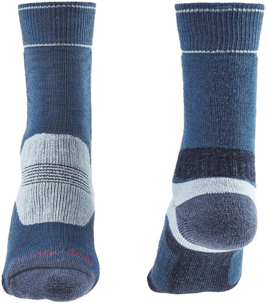 Bridgedale Hike Midweight Women's Boot Sock Blue Sky - Front and Back
