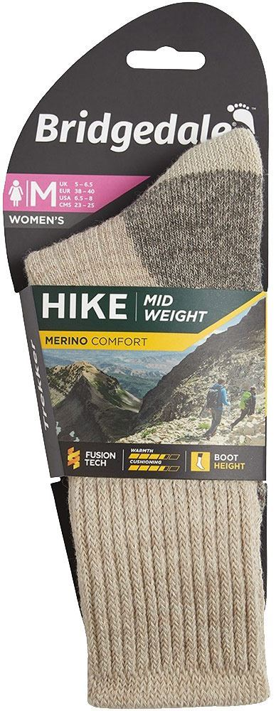 Bridgedale Hike Comfort Midweight Women's Boot Sock - Packaging