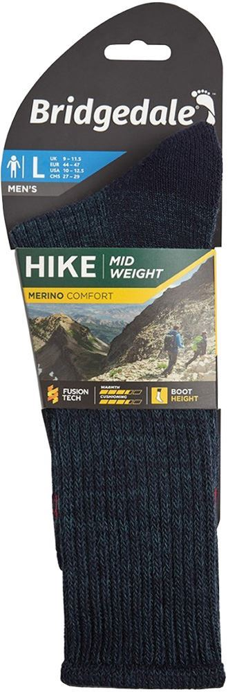Bridgedale Hike Comfort Midweight Men's Boot Sock - Packaging
