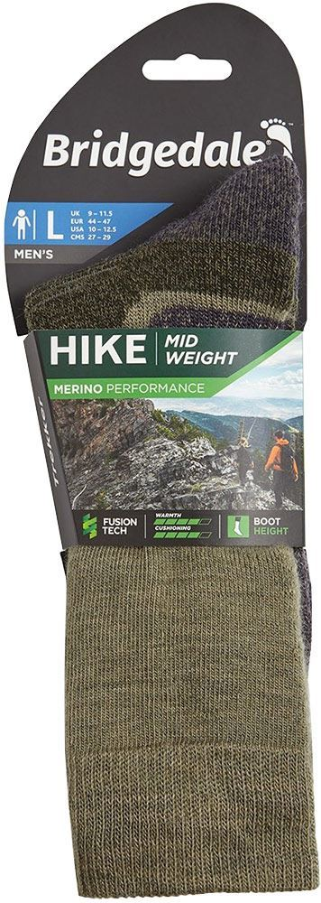 Bridgedale Hike Midweight Men's Boot Sock - Packaging