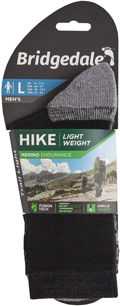 Bridgedale Hike Lightweight Men's Ankle Sock Silver Navy - Packaging