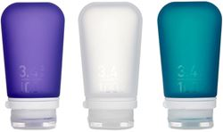 HumanGear GoToob+ Large 3pk Clear Purple Teal