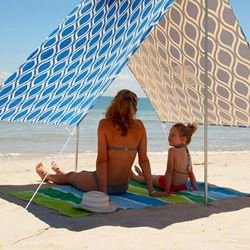 Hollie & Harrie Sombrilla Beach Shade Moroccan Blue