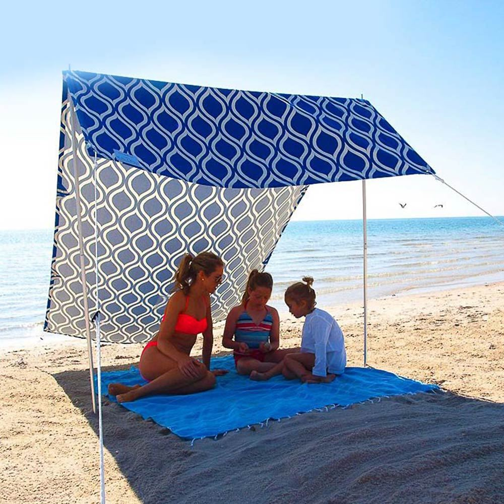 Hollie & Harrie Sombrilla Beach Shade Moroccan Blue