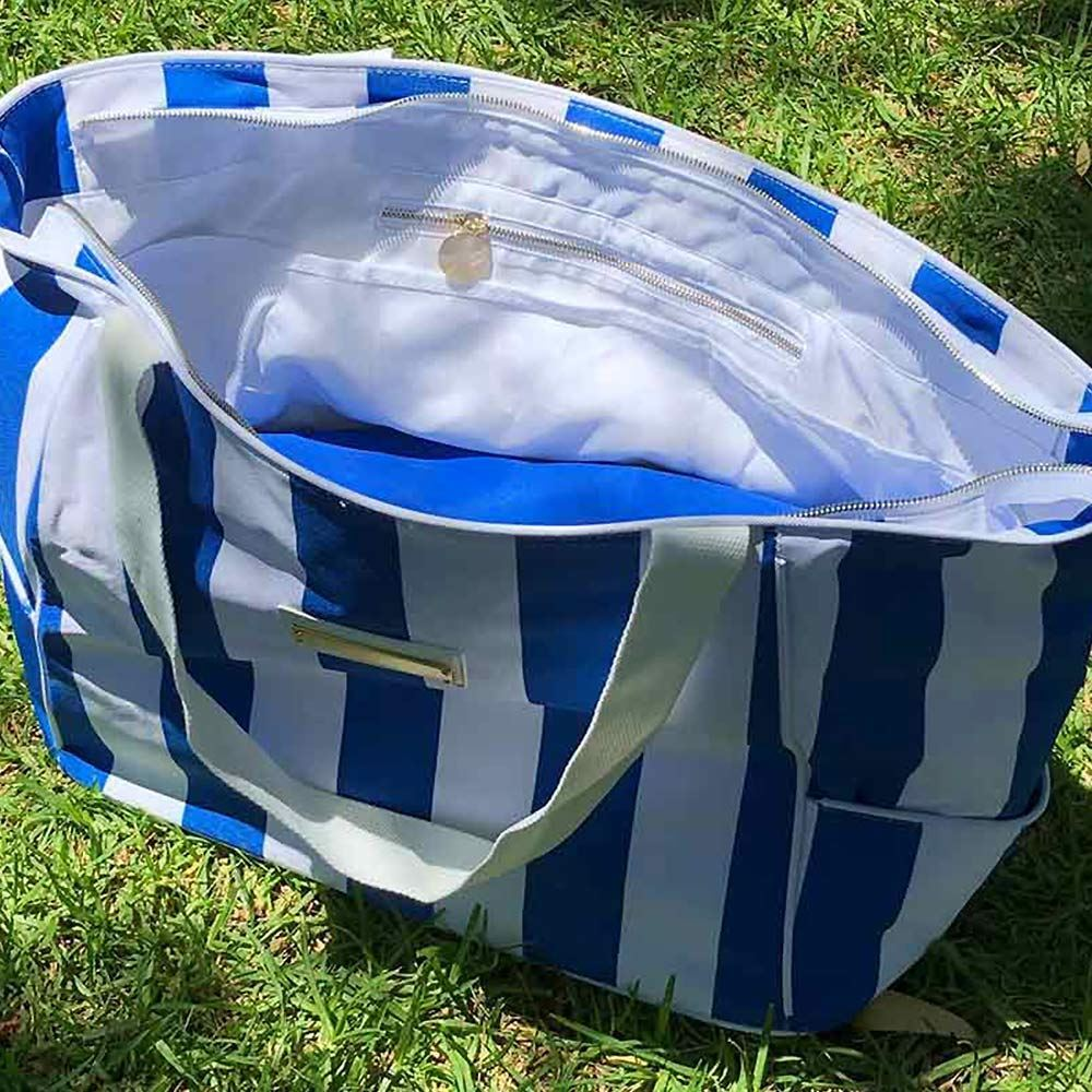 Shadee Fun Moana Beach Shade Blue White - Carry Bag