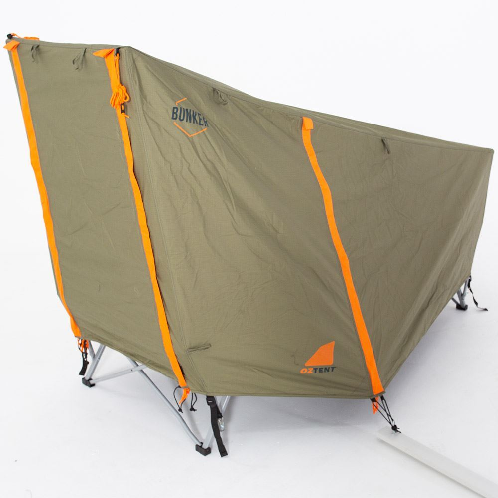 Oztent Bunker Stretcher - Zipped up fly