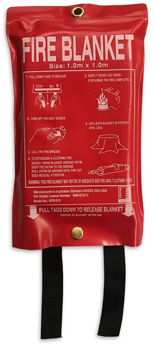 Australian RV Fire Blanket 1 x 1m