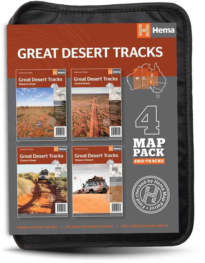 Hema Maps Great Desert Tracks 4 Map Pack