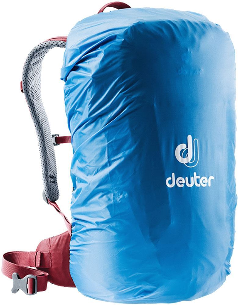 Deuter Futura 26 SL Daypack Cardinal Cranberry - Rain cover on
