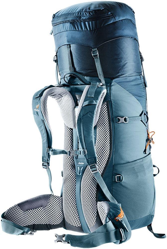 Deuter Aircontact Lite 65+10 Rucksack Navy Artic - Side harness view