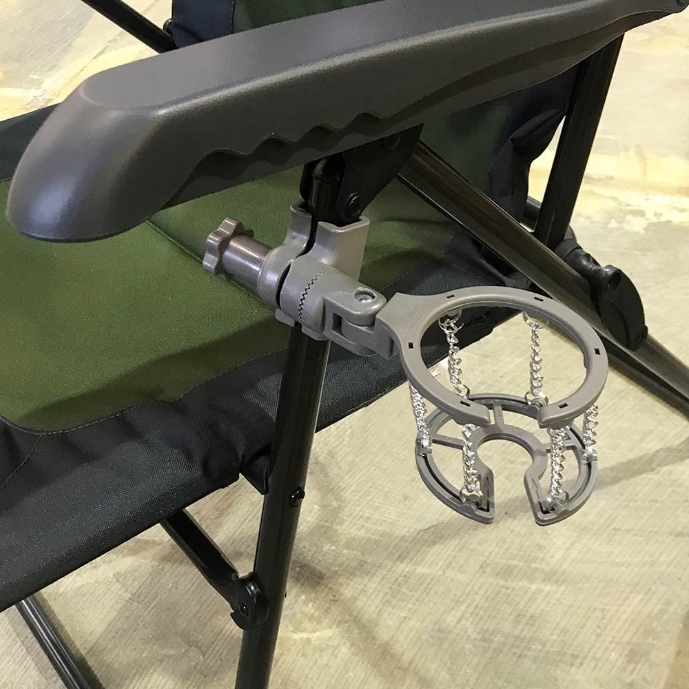 Coleman Universal Glass Holder - Attached to chair