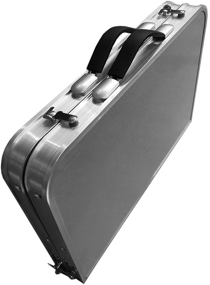 Australian RV Compact Folding Side Table - Packed down into briefcase