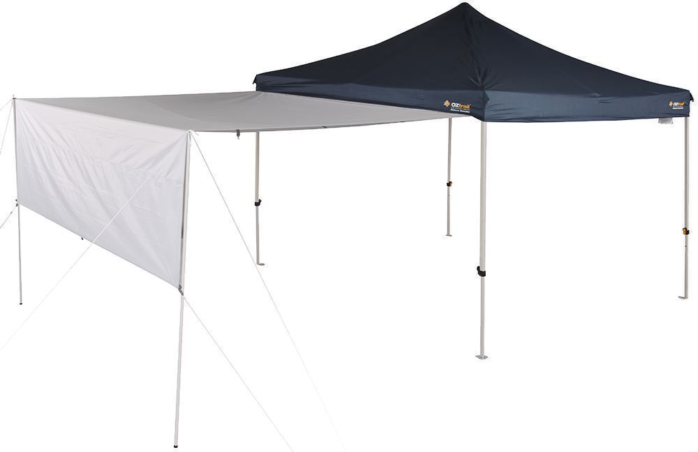 OZtrail Gazebo Monsoon Rainfly 3.0 Awning - Half bent
