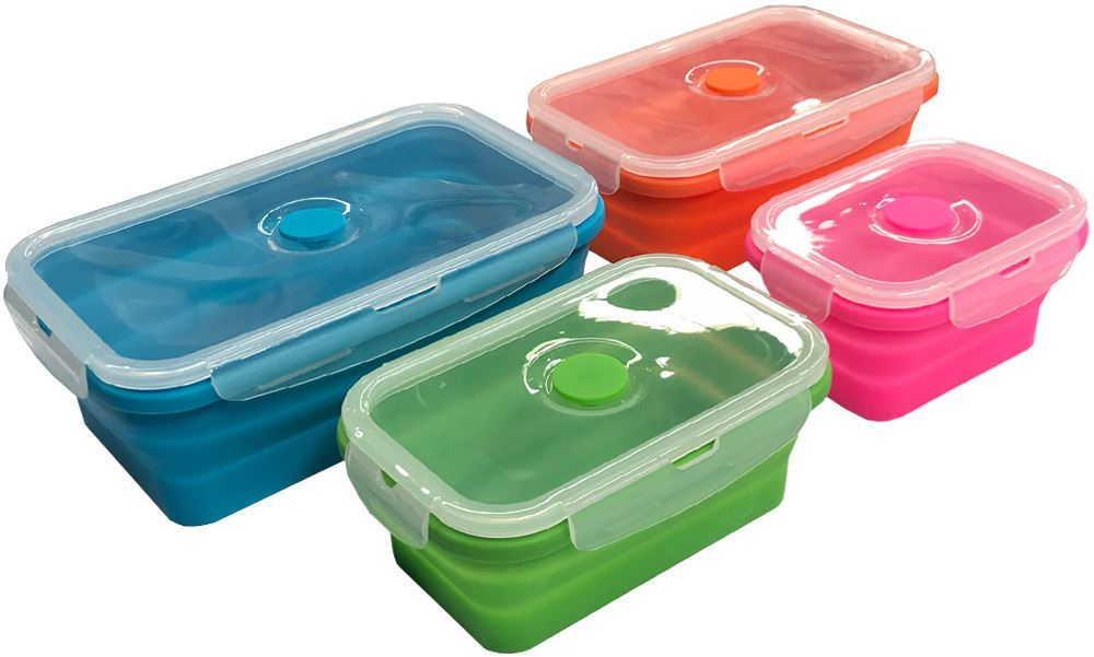 Collapsible Space Saving Products Rectangular Tub Set of 4