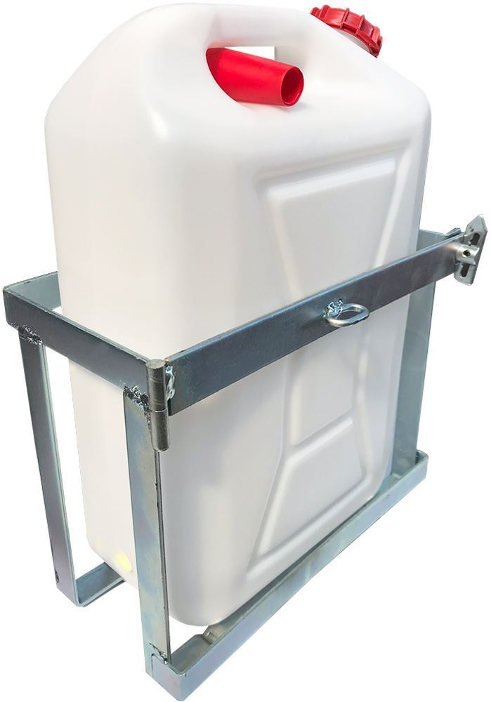 Australian RV Quick Release Weld On Jerry Can Holder - With Jerry Can