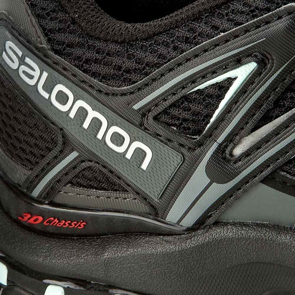Salomon XA Pro 3D Women's Shoe Black Magnet/ Fair Aqua - Close up of material