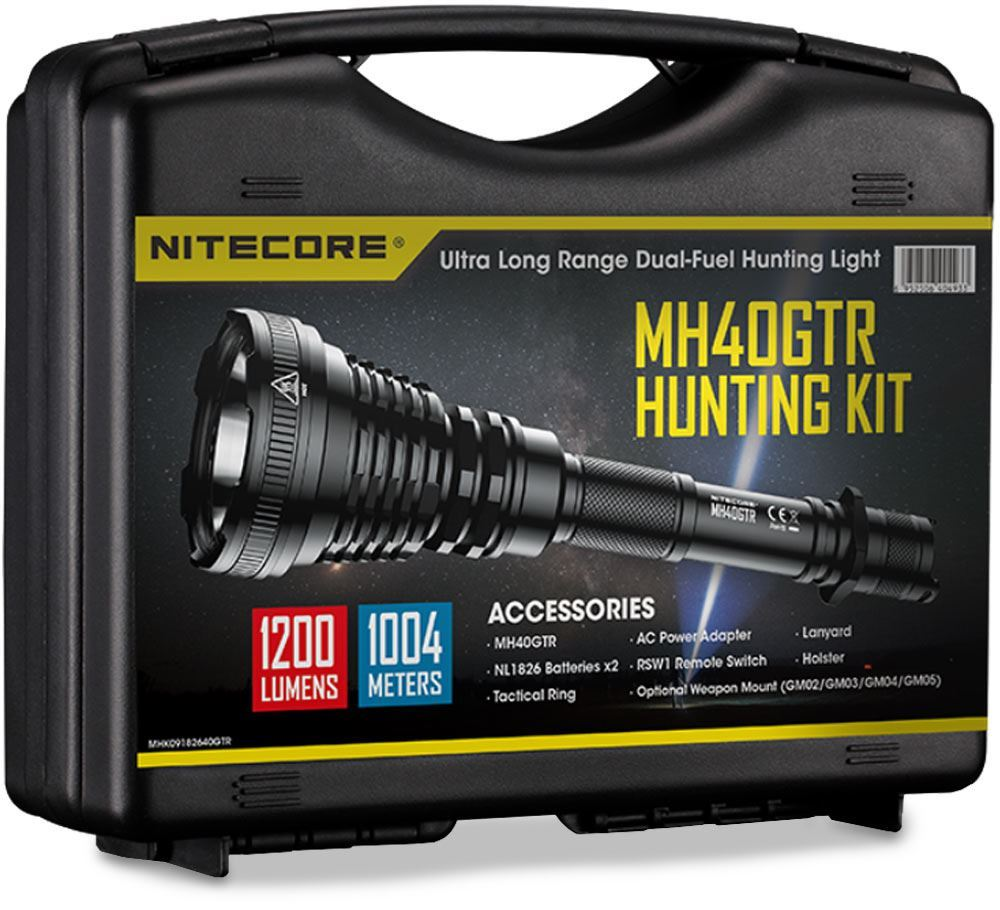 Nitecore MH40GTR Flashlight Hunting Kit