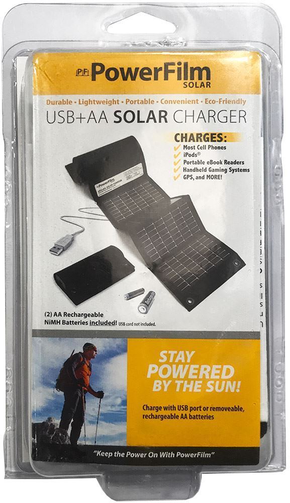 PowerFilm USB+AA Foldable Solar Charger 1.5W packed
