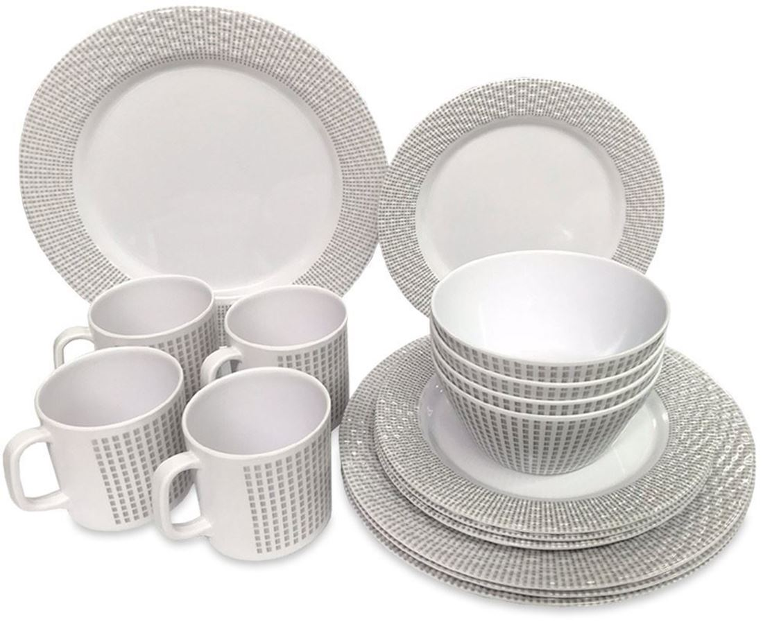 Royal Kitchenware 16pc Melamine Dinner Set Elegance