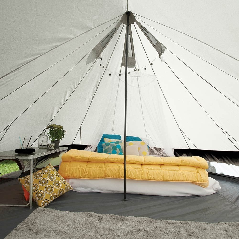 EPE Bellbird Glamping Tent - Inside view (decorated)