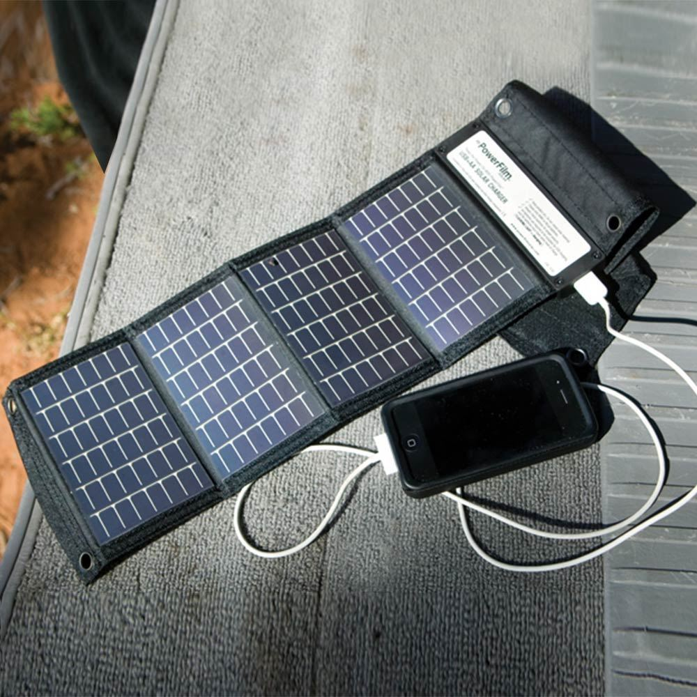 PowerFilm USB+AA Foldable Solar Charger 1.5W - Outdoors