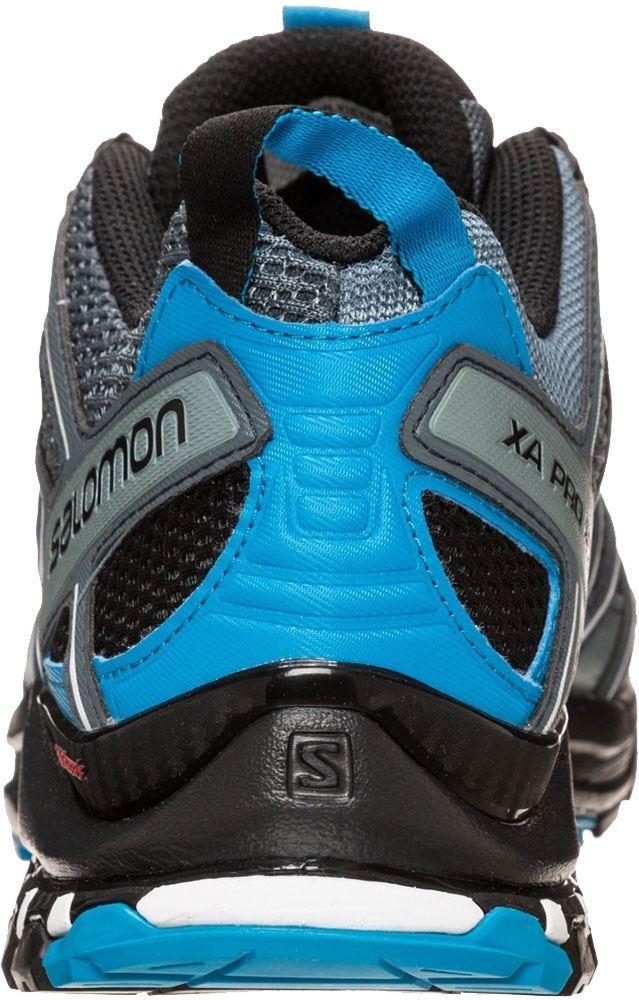Salomon XA Pro 3D Men's Shoe Stormy Weather Black Hawaiian Surf - Back view