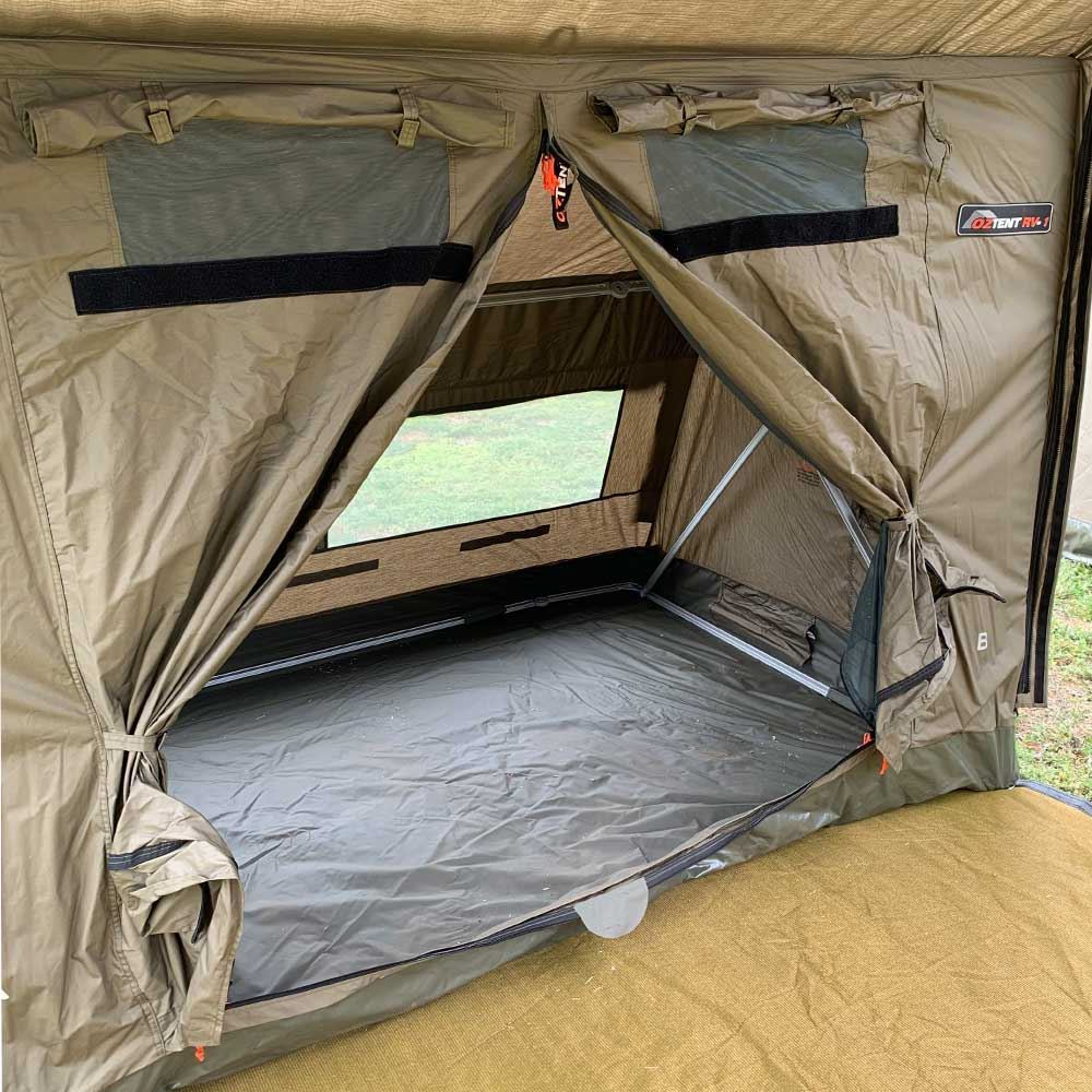 Oztent RV1 Canvas Touring Tent - Interior view