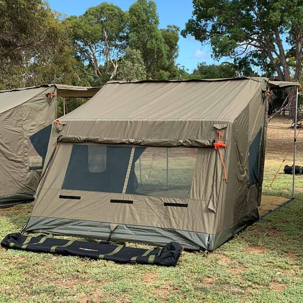 Oztent RV3 Canvas Touring Tent - Back view