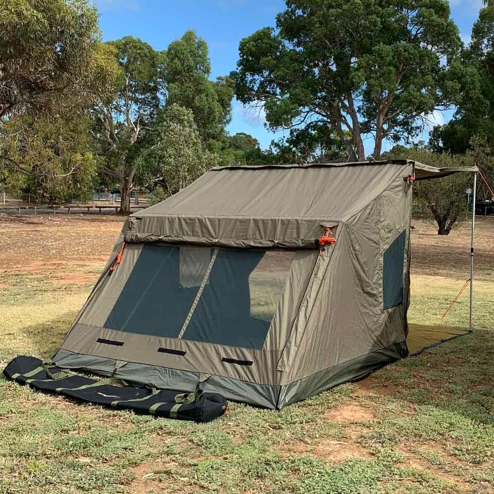 Oztent RV4 Canvas Touring Tent - Back view