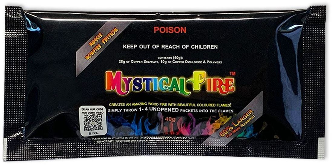 Mystical Fire Aussie Bonfire Edition Coloured Flames - Front packaging