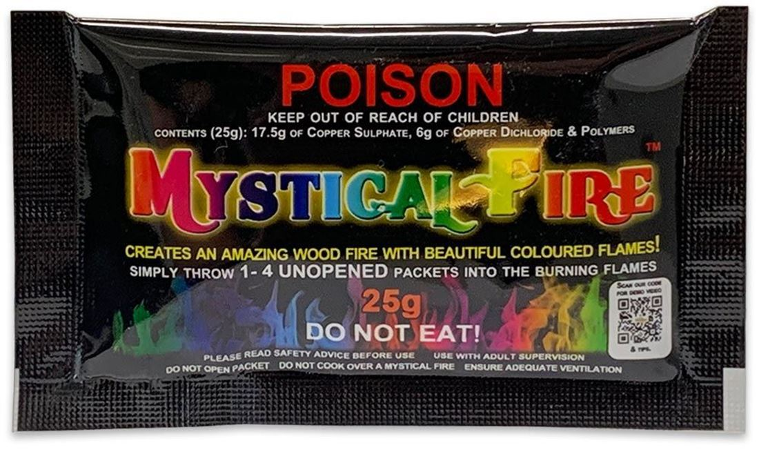 Mystical Fire Coloured Flames 25g - Front packaging