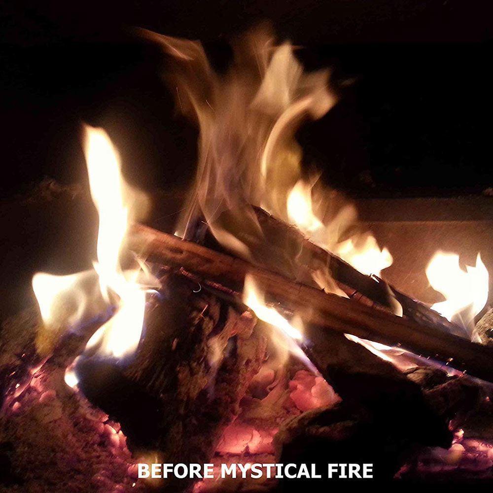 Mystical Fire Aussie Bonfire Edition Coloured Flames - Bonfire before adding coloured flames